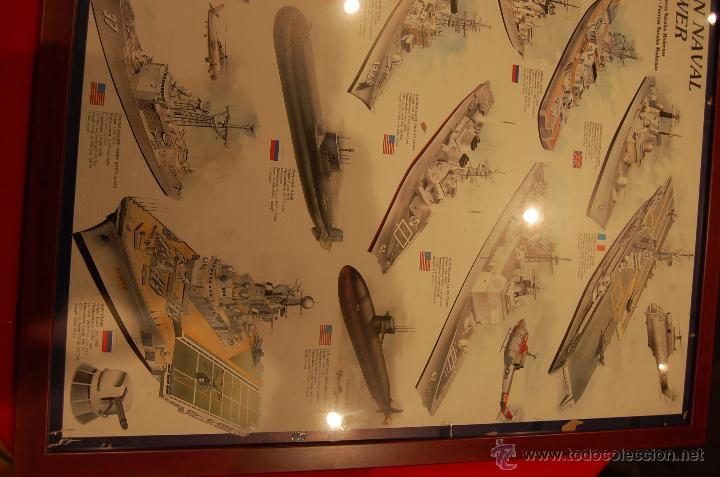 Carteles de Transportes: Lámina enmarcada de barcos, medidas: 102cmX 73cm - Foto 5 - 171296359