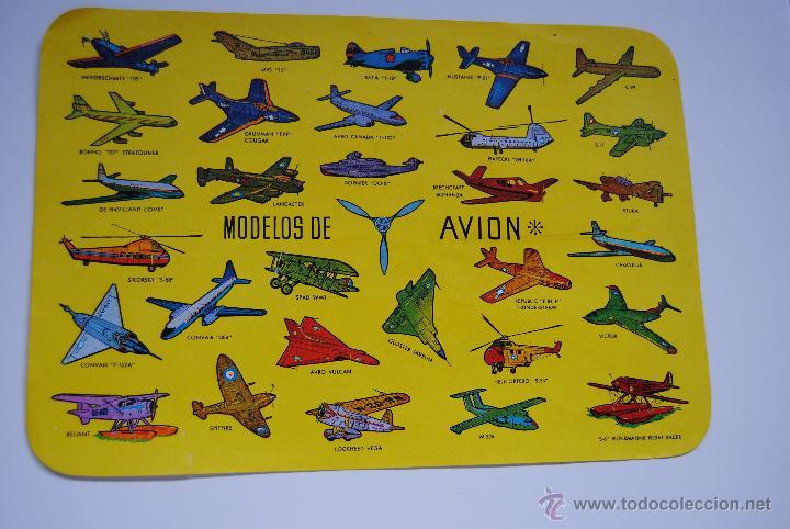 LAMINA DE MODELOS DE AVIONES (Coleccionismo - Carteles Gran Formato - Carteles Transportes)
