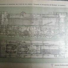 Carteles de Transportes: CARTEL POSTER LOCOMOTORA RECALENTADOR TIPO 0-8-0 3 CILINDROS CIA. FERROCARRILES NOROESTE INGLATERRA. Lote 46153231