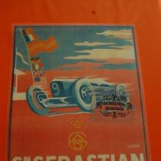 Carteles de Transportes: CARTEL - REPRODUCCIÓN SAN SEBASTIAN 1928 -TAM.APROX. 27 X 40 CM - PLASTIFICADO. Lote 46604613