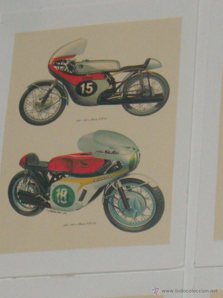 CARTEL MOTOCICLETA DE COMPETICION HONDA 125 CC Y 250 CC 1962 Y 1967 (Coleccionismo - Carteles Gran Formato - Carteles Transportes)