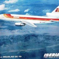 Affiches de Transports: CARTEL DE AVIÓN DC-10 CIA. IBERIA. Lote 90337906