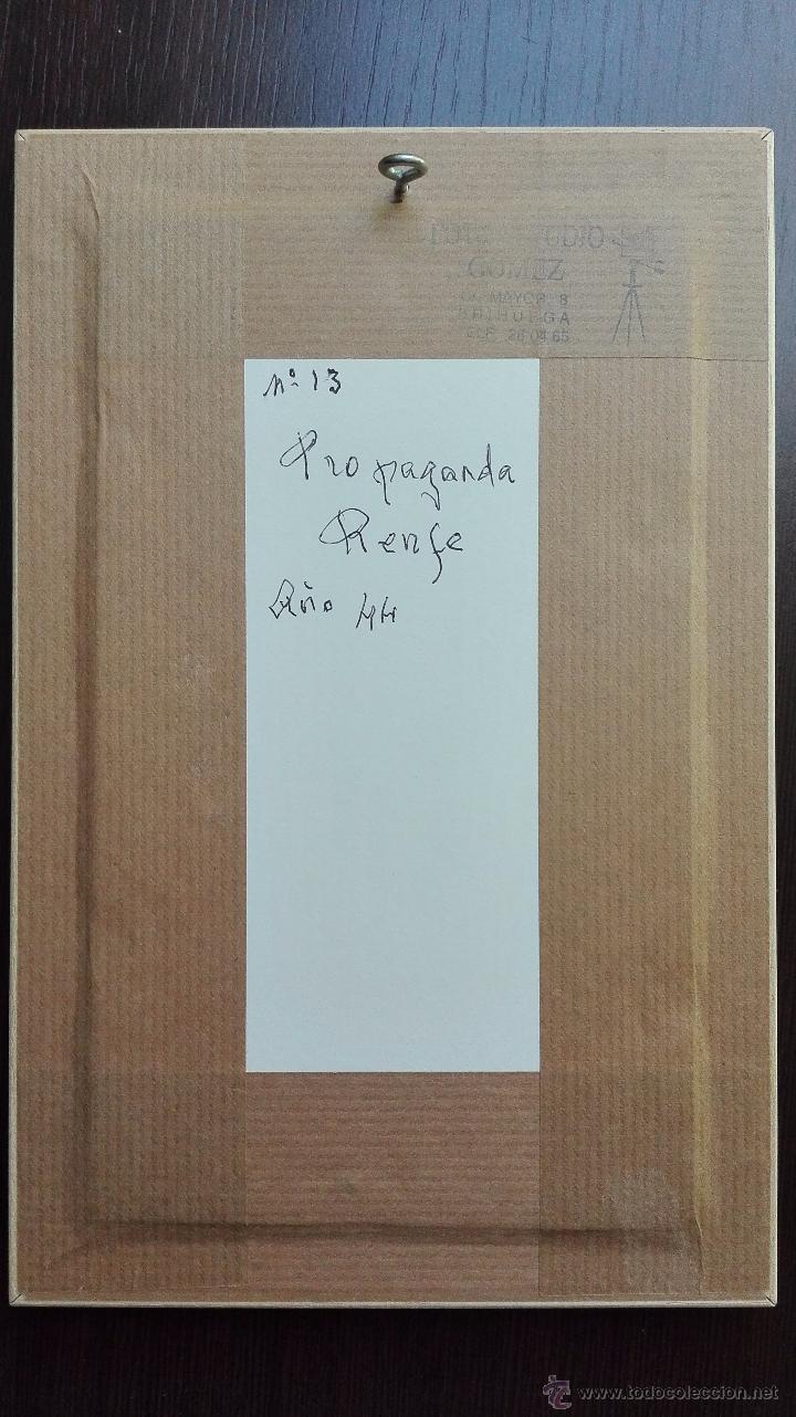 Carteles de Transportes: DIBUJO ORIGINAL DE LOGOTIPO O ANAGRAMA DE RENFE - ACUARELA - AUTOR M. BARRERO - 1944 - - Foto 5 - 49555624