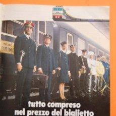 Carteles de Transportes: PUBLICIDAD 1971 - COLECCION INDUSTRIAS - FERROCARRIL ITALIA - ANUNCIO DE ITALIA. Lote 49700595