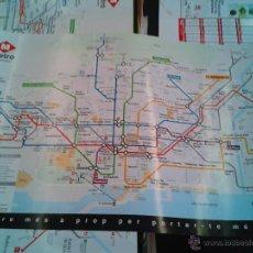 Carteles de Transportes: CARTEL POSTER TRANSPORTES METROPOLITANOS BARCELONA PLANO LÍNEAS DE METRO. ADHESIVO ORIGINAL AÑOS 80 . Lote 51177095