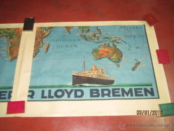 Carteles de Transportes: Cartel Doble de Linea de Navegación NORDDEUTSCHER LLOYD BREMEN Transatlanticos Columbus y München - Foto 11 - 53983715