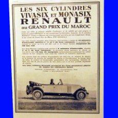 Affissi di Trasporti: AUTOMOVILES RENAULT - 30 X 40 CM AÑO 1929 LAMINA ORIGINAL DE LA REVISTA ´´ L´ILLUSTRATION´. Lote 56321378