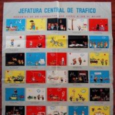 Carteles de Transportes: ANTIGUO CARTEL DE LA JEFATURA DE TRAFICO. MEMORIAS DE UN CONDUCTOR.1961.COCHE AUTOMOCIÓN (POSTER). Lote 57033150