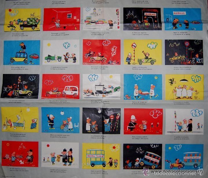 Carteles de Transportes: ANTIGUO CARTEL DE LA JEFATURA DE TRAFICO. MEMORIAS DE UN CONDUCTOR.1961.COCHE AUTOMOCIÓN (POSTER) - Foto 3 - 57033150