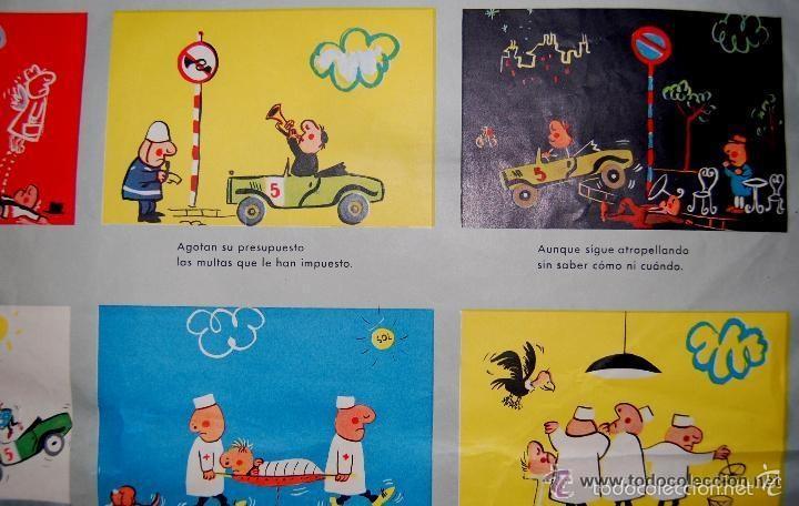 Carteles de Transportes: ANTIGUO CARTEL DE LA JEFATURA DE TRAFICO. MEMORIAS DE UN CONDUCTOR.1961.COCHE AUTOMOCIÓN (POSTER) - Foto 4 - 57033150