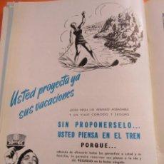 Affissi di Trasporti: PUBLICIDAD 1957 - COLECCION TRENES - RENFE RED NACIONAL FERROCARRILES ESPAÑOLES. Lote 58247360