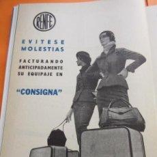 Carteles de Transportes: PUBLICIDAD 1957 - COLECCION TRENES - RENFE CONSIGNA . Lote 58247883