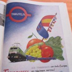 Carteles de Transportes: PUBLICIDAD 1955 - COLECCION TRENES - RENFE Y TRANSFESA - FERROCARRIL TREN. Lote 58267101