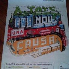 Carteles de Transportes: JO TRANSPORT PUBLIC - GENERALITAT DE CATALUNYA - ATM. GIRONA - LLEIDA - TARRAGONA - 170 X 120 CM.. Lote 60267299