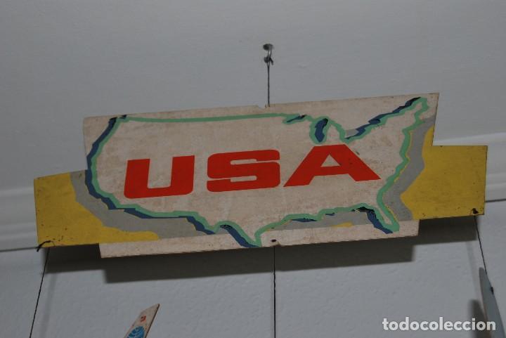 Carteles de Transportes: CARTEL COLGANTE CON PUBLICIDAD DE PAN AM USA - MÓVIL PUBLICITARIO PANAM - LÍNEA AÉREA - AÑOS 60 - Foto 9 - 70566921