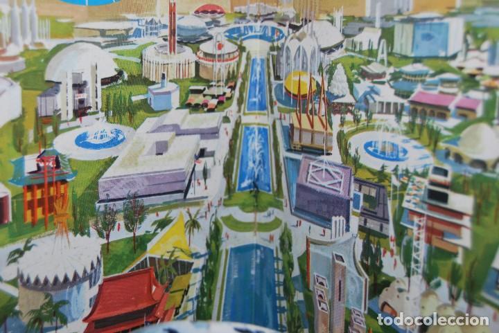 Carteles de Transportes: CARTEL EN RELIEVE CON PUBLICIDAD DE PAN AM - FOLLETO PANAM - FERIA MUNDIAL DE NUEVA YORK - 1964 - Foto 3 - 70568001