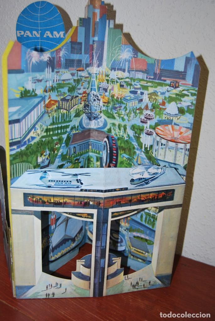 Carteles de Transportes: CARTEL EN RELIEVE CON PUBLICIDAD DE PAN AM - FOLLETO PANAM - FERIA MUNDIAL DE NUEVA YORK - 1964 - Foto 7 - 70568001