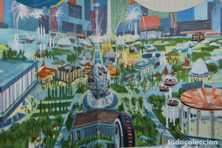 Carteles de Transportes: CARTEL EN RELIEVE CON PUBLICIDAD DE PAN AM - FOLLETO PANAM - FERIA MUNDIAL DE NUEVA YORK - 1964 - Foto 9 - 70568001