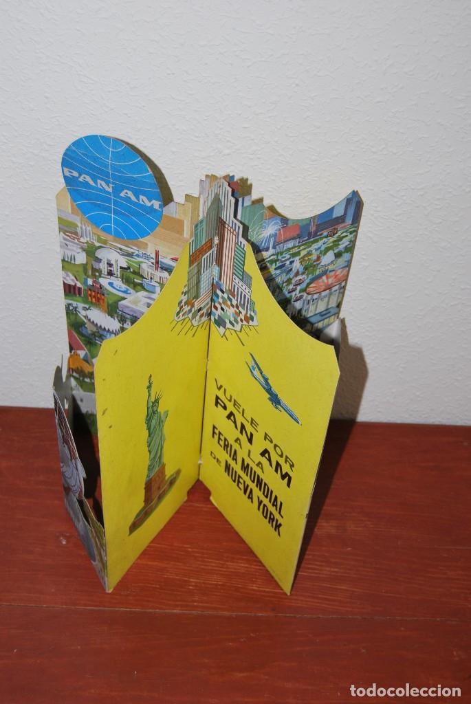 Carteles de Transportes: CARTEL EN RELIEVE CON PUBLICIDAD DE PAN AM - FOLLETO PANAM - FERIA MUNDIAL DE NUEVA YORK - 1964 - Foto 12 - 70568001