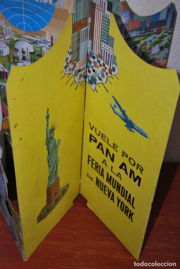 Carteles de Transportes: CARTEL EN RELIEVE CON PUBLICIDAD DE PAN AM - FOLLETO PANAM - FERIA MUNDIAL DE NUEVA YORK - 1964 - Foto 13 - 70568001