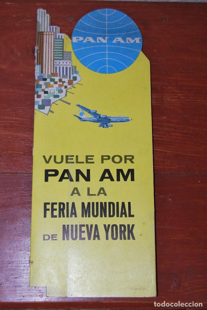 Carteles de Transportes: CARTEL EN RELIEVE CON PUBLICIDAD DE PAN AM - FOLLETO PANAM - FERIA MUNDIAL DE NUEVA YORK - 1964 - Foto 14 - 70568001