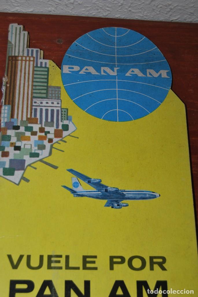 Carteles de Transportes: CARTEL EN RELIEVE CON PUBLICIDAD DE PAN AM - FOLLETO PANAM - FERIA MUNDIAL DE NUEVA YORK - 1964 - Foto 15 - 70568001