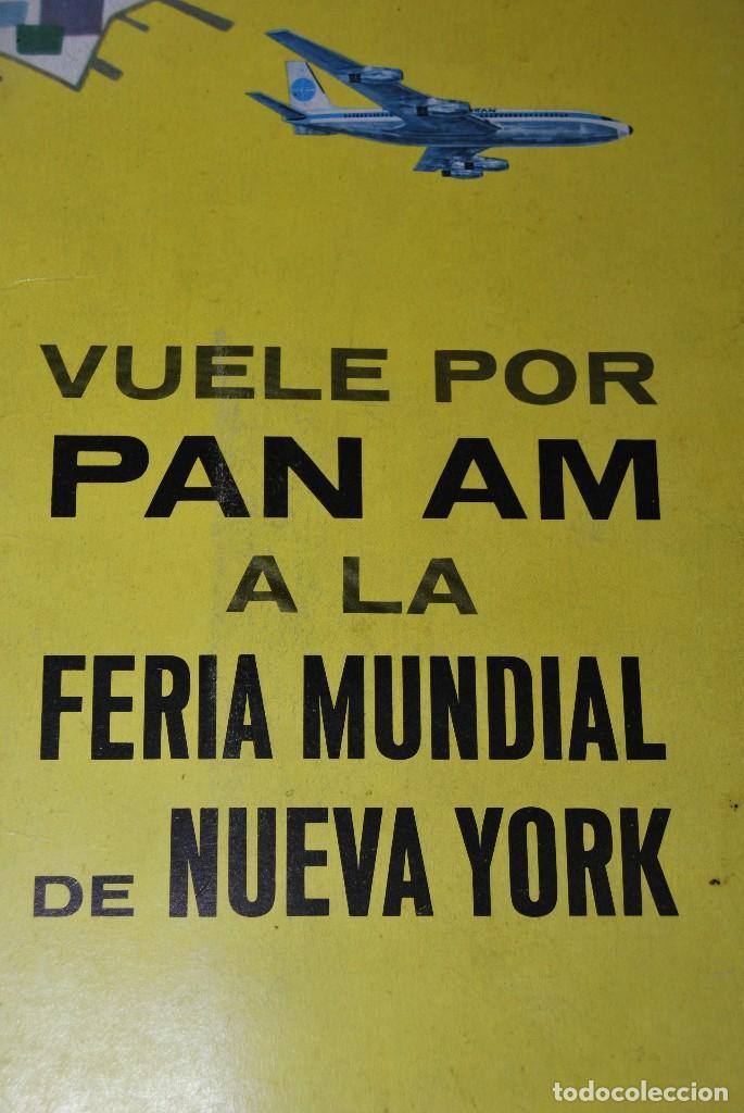 Carteles de Transportes: CARTEL EN RELIEVE CON PUBLICIDAD DE PAN AM - FOLLETO PANAM - FERIA MUNDIAL DE NUEVA YORK - 1964 - Foto 16 - 70568001