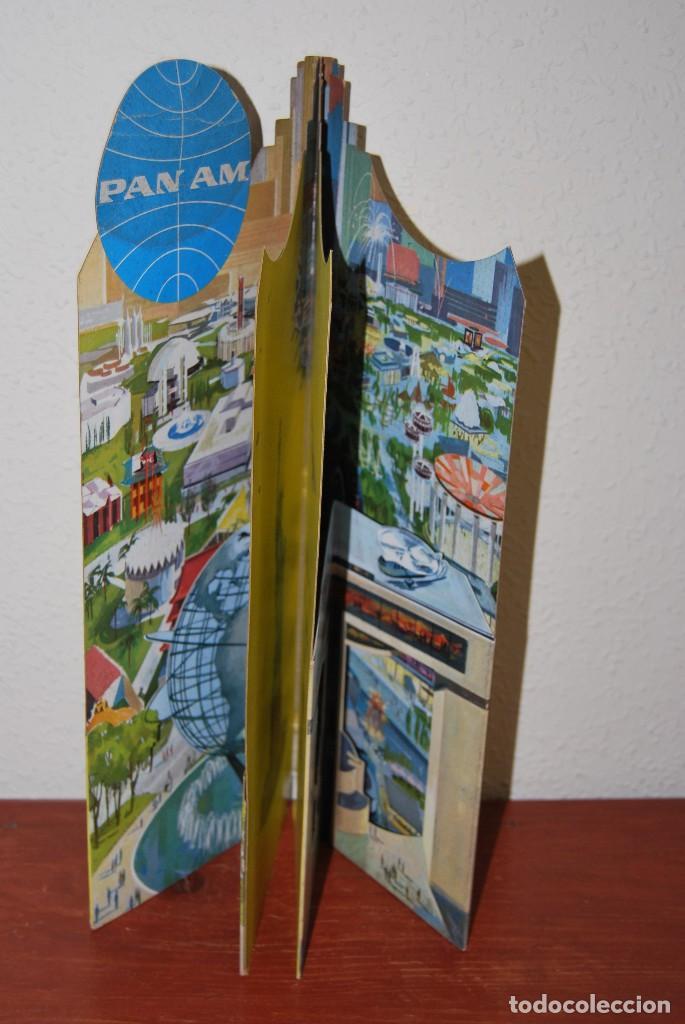 Carteles de Transportes: CARTEL EN RELIEVE CON PUBLICIDAD DE PAN AM - FOLLETO PANAM - FERIA MUNDIAL DE NUEVA YORK - 1964 - Foto 20 - 70568001