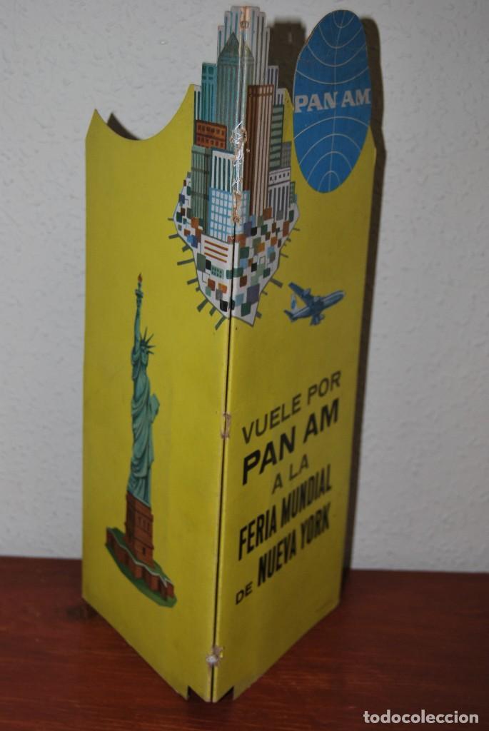 Carteles de Transportes: CARTEL EN RELIEVE CON PUBLICIDAD DE PAN AM - FOLLETO PANAM - FERIA MUNDIAL DE NUEVA YORK - 1964 - Foto 21 - 70568001
