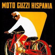 Affissi di Trasporti: CARTEL DECORACION MOTO GUZZI TAMAÑO GRANDE 70 X 56 CM. Lote 89562106