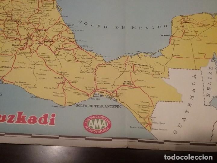 Carteles de Transportes: Mapa automovilístico de México , Goodrich Euzkadi. Cartel original. - Foto 2 - 97320535