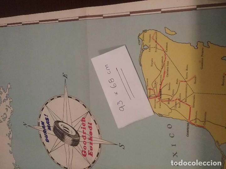 Carteles de Transportes: Mapa automovilístico de México , Goodrich Euzkadi. Cartel original. - Foto 4 - 97320535