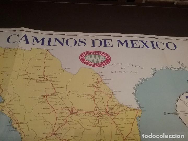 Carteles de Transportes: Mapa automovilístico de México , Goodrich Euzkadi. Cartel original. - Foto 5 - 97320535