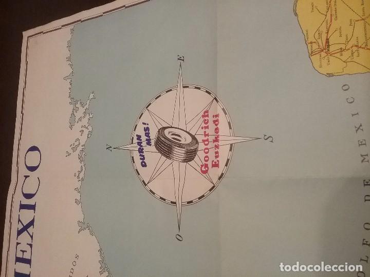 Carteles de Transportes: Mapa automovilístico de México , Goodrich Euzkadi. Cartel original. - Foto 7 - 97320535