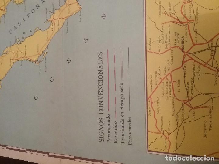 Carteles de Transportes: Mapa automovilístico de México , Goodrich Euzkadi. Cartel original. - Foto 8 - 97320535
