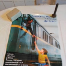 Carteles de Transportes: FERROCARRIL CARTEL PUBLICITARIO GRAN FORMATO. Lote 97886667