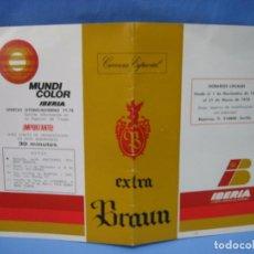 Carteles de Transportes: CALENDARIO DE VUELOS DE IBERIA 1977/78. Lote 98583011