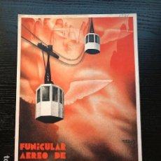 Carteles de Transportes: CARTEL ORIGINAL1931 FUNICULAR AEREO MONTSERRAT MORELL JOSEP. Lote 109207315