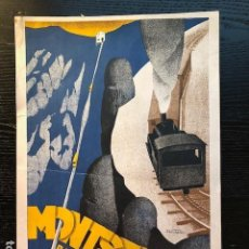 Carteles de Transportes: CARTEL ORIGINAL FUNICULAR AEREO MONTSERRAT 1931 LLUIS MUNTANÉ MUNS (1899-1987). Lote 109207707