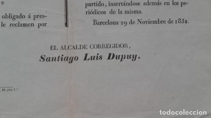 Carteles de Transportes: BANDO ARRENDAMIENTOS DE CABALLERIAS EN BARCELONA PUEBLOS PARTIDO BADALONA,S.ANDRES DE PALOMAR Y SANS - Foto 3 - 113154455