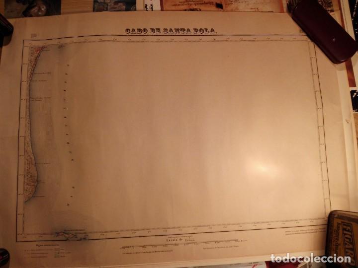 CABO DE SANTA POLA MAPA PROVINCIAL AÑOS 40/50 - PERFECTO ESTADO 52X66 (Coleccionismo - Carteles Gran Formato - Carteles Transportes)