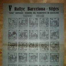 Carteles de Transportes: V RALLY BARCELONA - SITGES - AUCA HISTÓRICO - GUASONA DEL TRANSPORTE EN BARCELONA (AÑO 1963). Lote 117630711