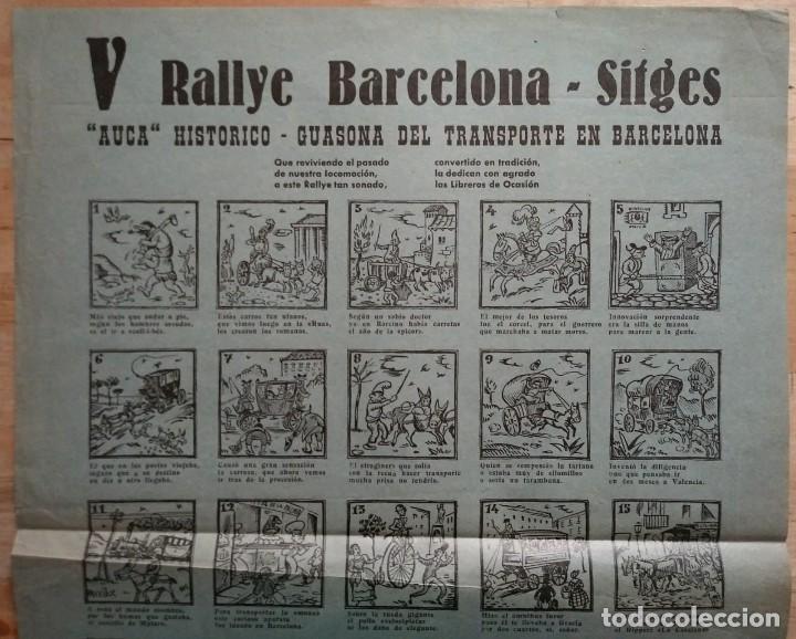 Carteles de Transportes: 1963 V Rally Barcelona Sitges. Auca histórico guasona del transporte en Barcelona - Foto 3 - 117630711
