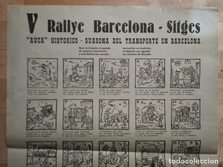 Carteles de Transportes: 1963 V Rally Barcelona Sitges. Auca histórico guasona del transporte en Barcelona - Foto 3 - 117630727