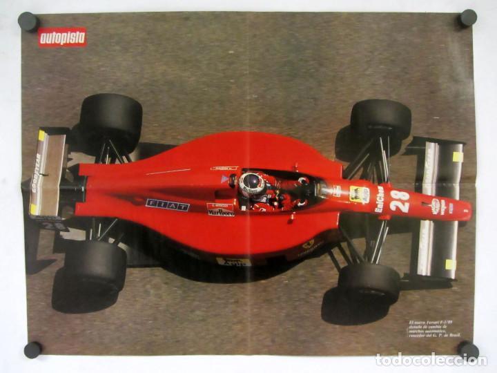 Carteles de Transportes: Lote de 9 posters de la revista Autopista. La mayoria reversibles. 54x41 cms. - Foto 6 - 121599879