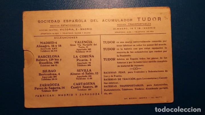 PUBLICIDAD TUDOR - POSTAL TIPO KILOMÉTRICO DE ESPAÑA - TAL FOTO (Coleccionismo - Carteles Gran Formato - Carteles Transportes)