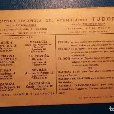 Carteles de Transportes: PUBLICIDAD TUDOR - POSTAL TIPO KILOMÉTRICO DE ESPAÑA - TAL FOTO. Lote 121614379