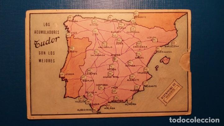 Carteles de Transportes: PUBLICIDAD TUDOR - POSTAL TIPO KILOMÉTRICO DE ESPAÑA - TAL FOTO - Foto 2 - 121614379