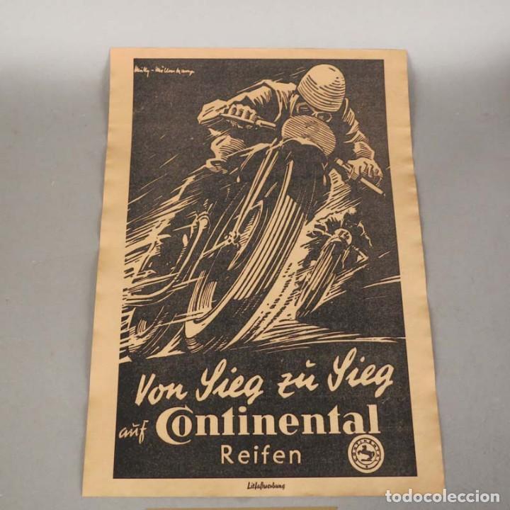 ORIGINAL CARTEL VINTAGE DE CONTINENTAL REIFEN. ALEMANIA 1950 - 1959 (Coleccionismo - Carteles Gran Formato - Carteles Transportes)