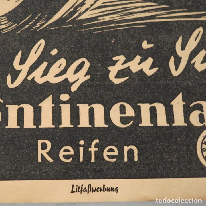 Carteles de Transportes: Original cartel vintage de Continental Reifen. Alemania 1950 - 1959 - Foto 2 - 121916987